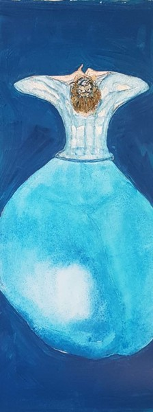 Flacon d'eau bleue