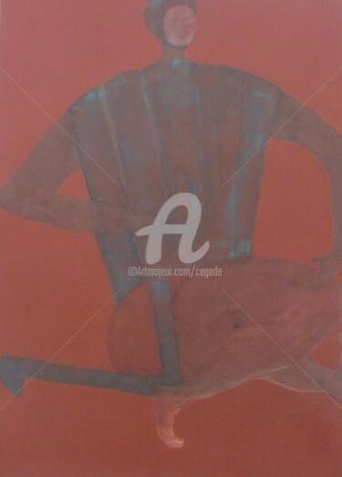 Fauteuil de plage sur fond ocre rouge